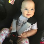 Harley in carseat