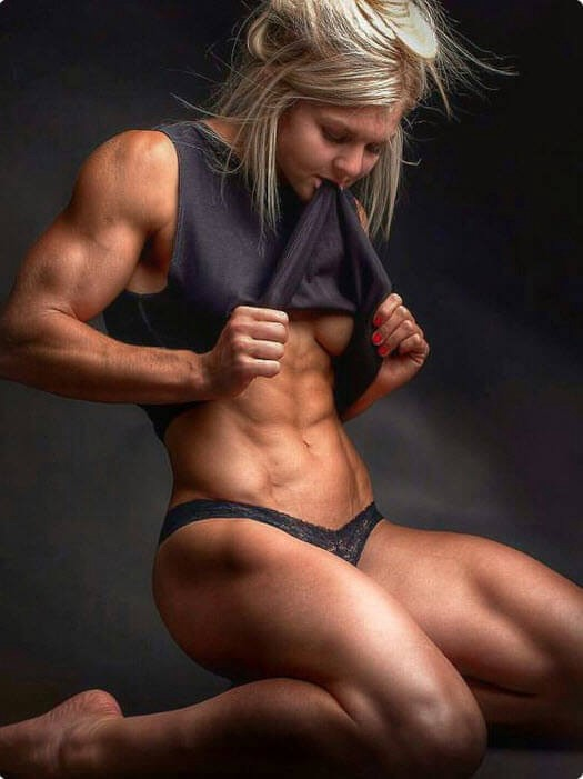 Sexy woman medium body building valuable opinion