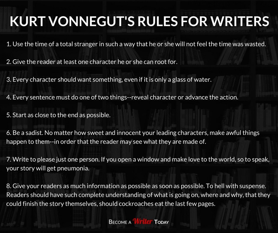 Kurt Vonnegut's Rules for Writers