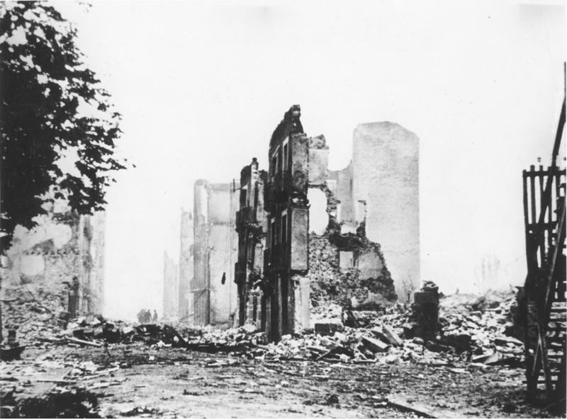 Guernica after the bombing