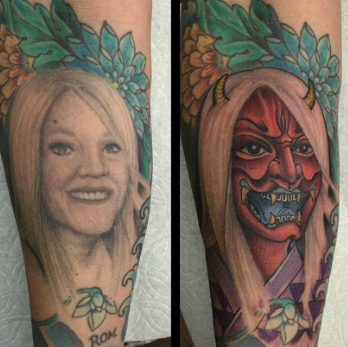 My friend decided to cover up the tattoo of his ex wife! - Imgur