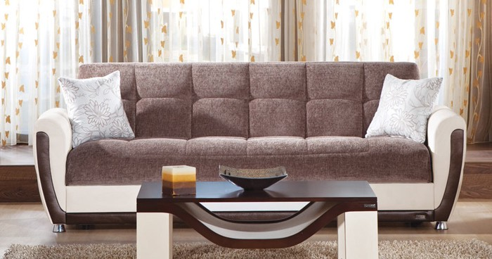 Ordinaire Also Being From Istikbal Furniture, The Vella Sofa Sleeper Offers  Transitional Yet Modern Design. Plush Cushions Ensure A Comfortable Seat,  While Flared ...