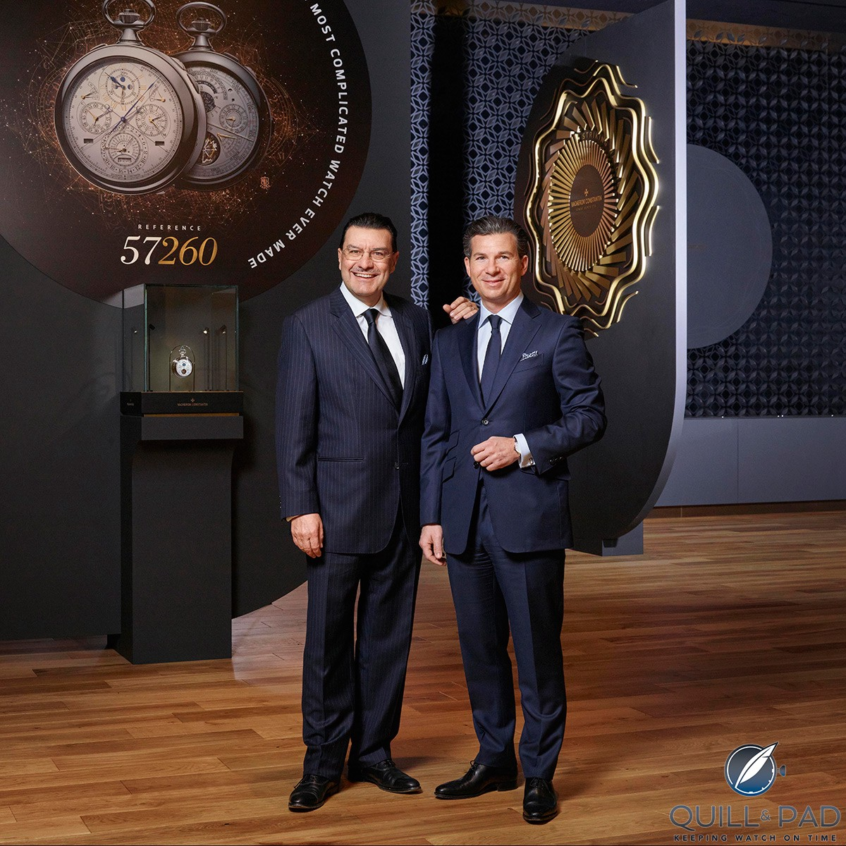 Out going CEO of Vacheron Constantin Juan-Carlos Torres (left) with incoming CEO Louis Ferla