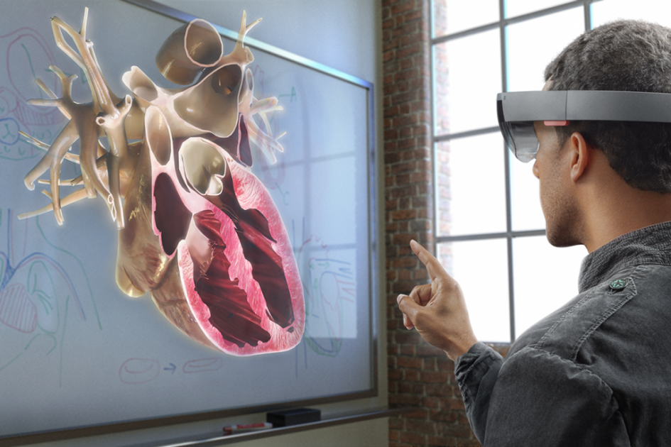 HoloLens looking inside a human heart--cool, eh?