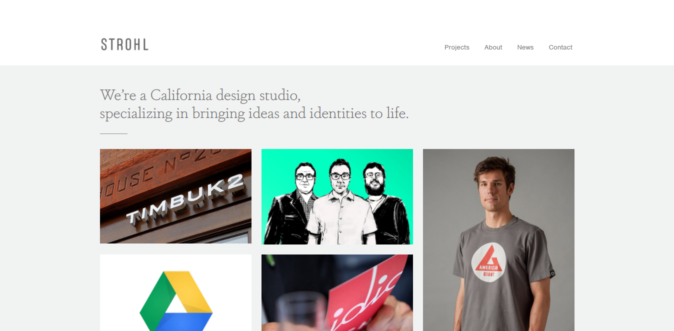 Strohl Bootstrap website example