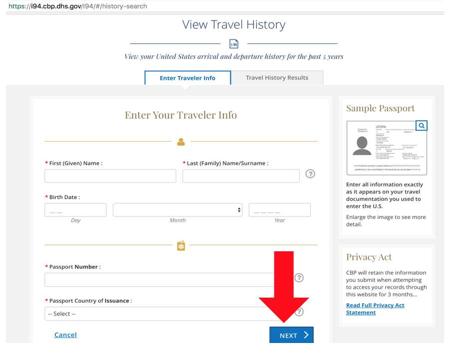 How to Simply View Your U S  I-94 Travel History (with Pictures)