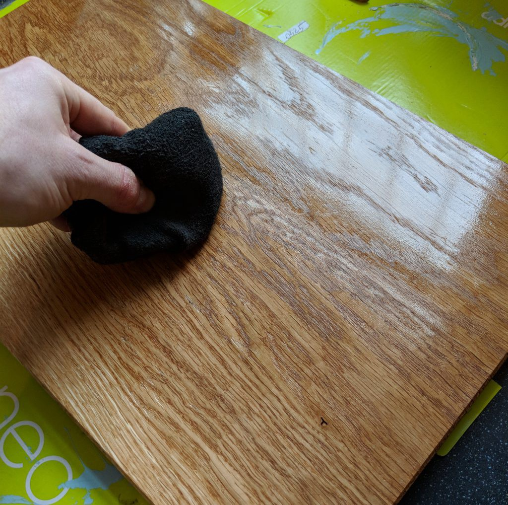 Applying finish- Making a Chopping Board