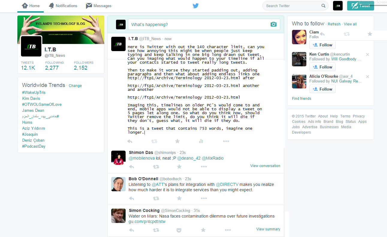 Is There Limit To How Much States Can >> Twitter Might Remove Images And Links From Char Limit
