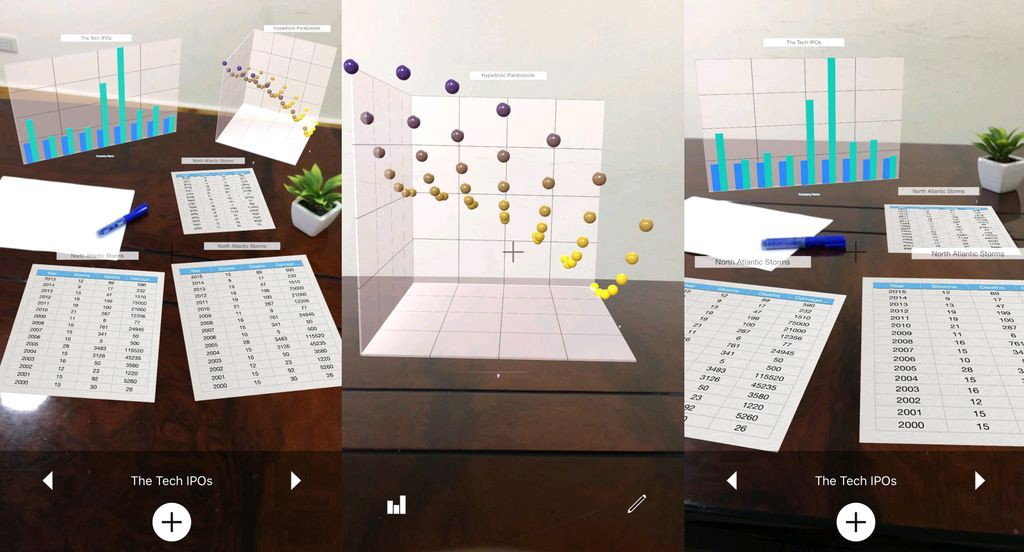 Graphmented Brings Your Google Sheets Into The Real World With #ARKit  #ar #AugmentedReality