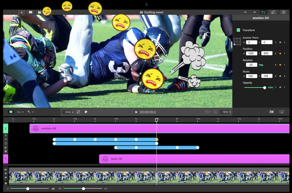 Picture 3: Use Keyframe Animation on Write-on Video Mac