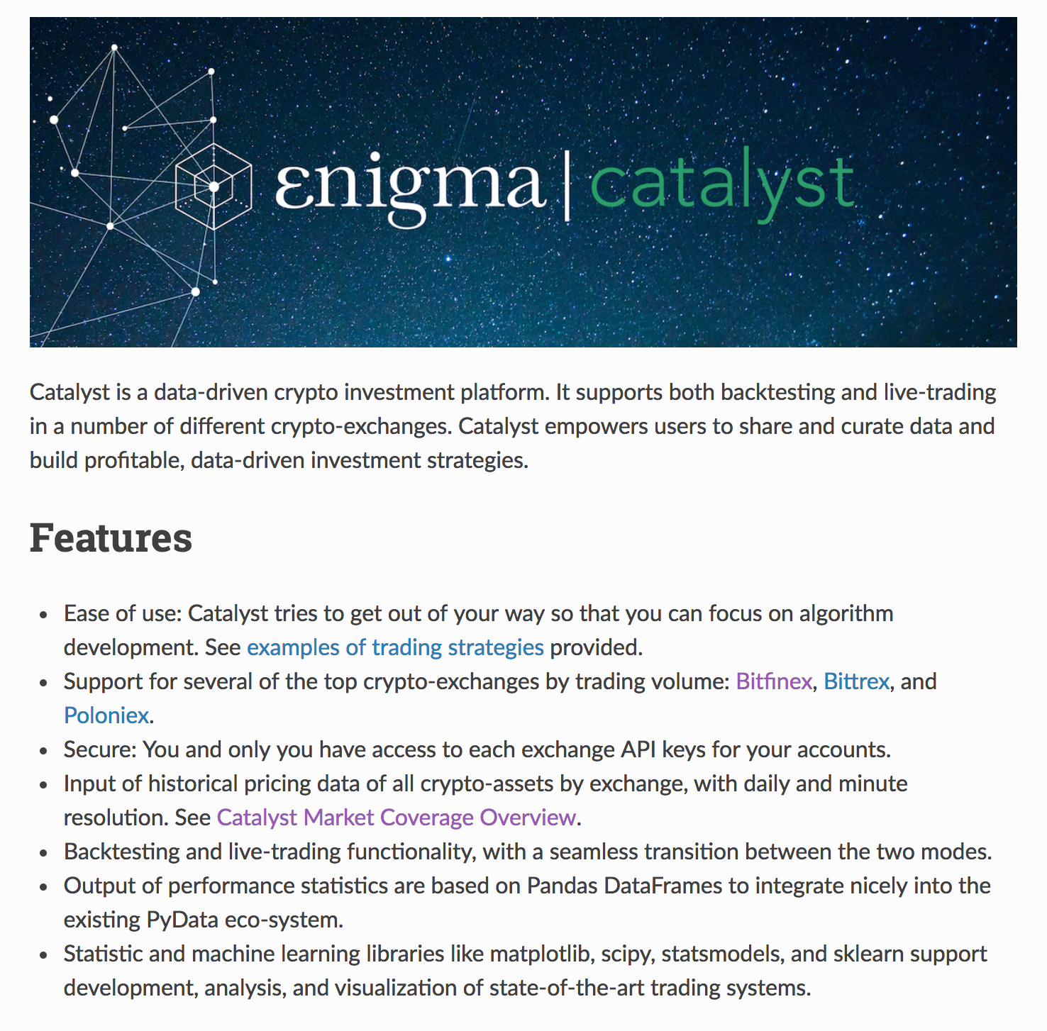 catalyst 0 3 our newest release enigma