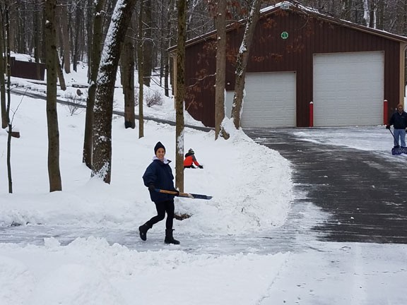 Popes Shoveling Out