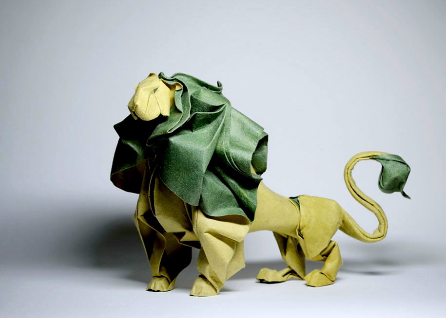 Wet Folding Origami Lion Byhoang Tien Quyet In Vietnam