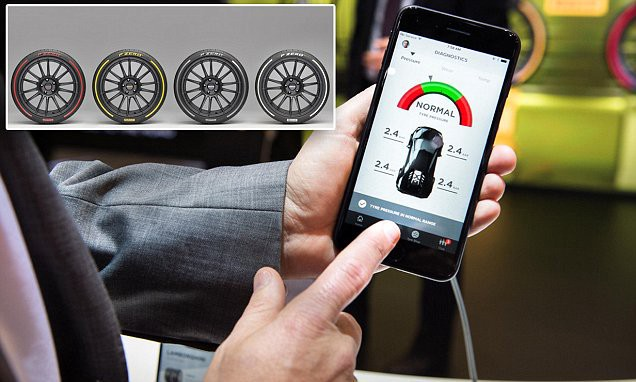 Pirelli unveils coloured TYRES that can talk to you via an app  #IoT