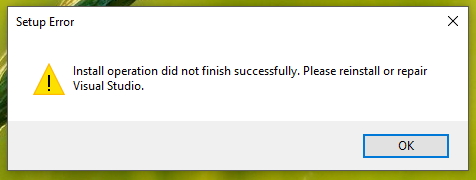 install-operation-did-not-finish-successfully-please-reinstall-or-repair-vis