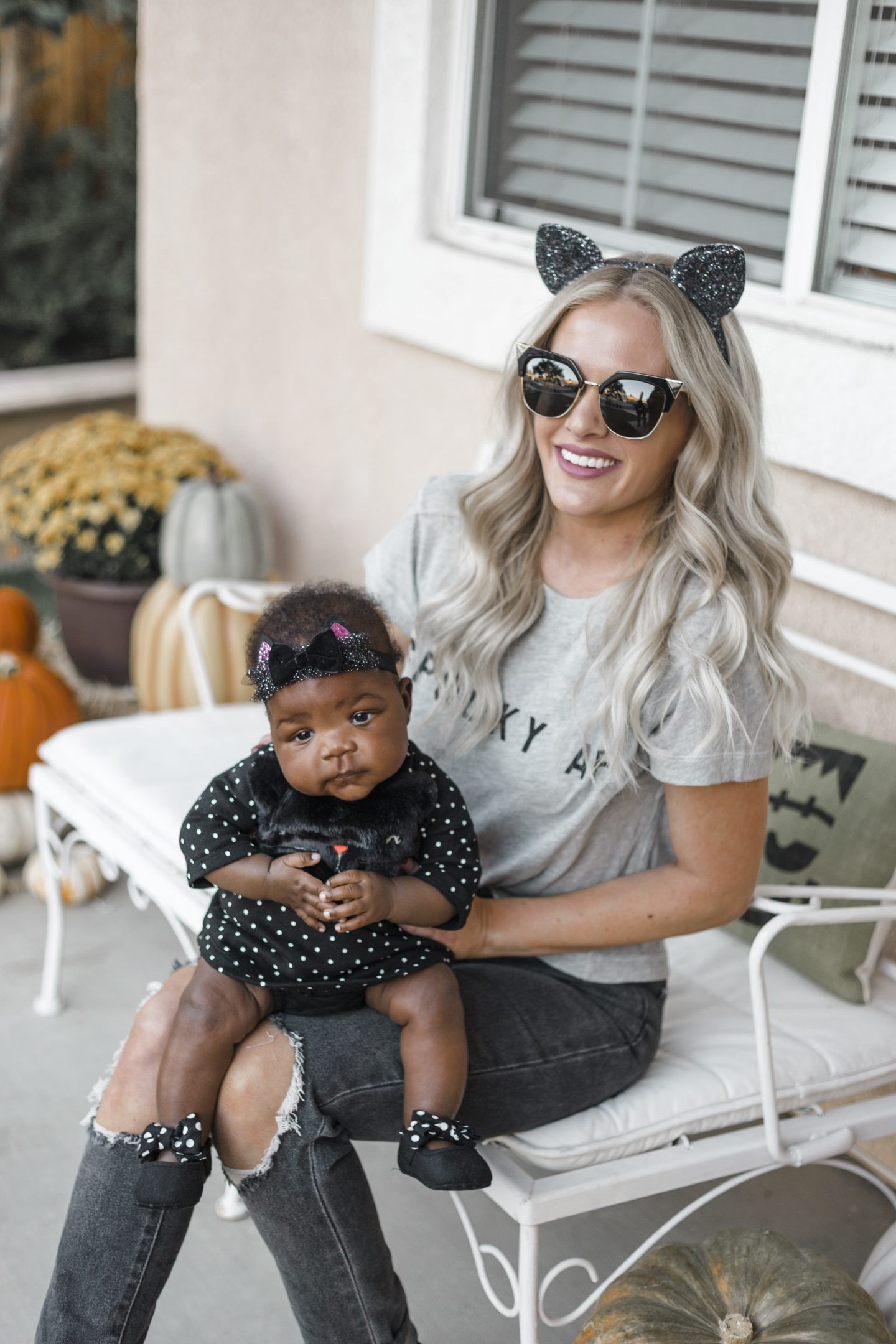 Cute Baby Halloween Costumes featured by top Orange County life and style blog, Dress Me Blonde: cat