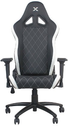 RapidX Ferrino Line White On Black Diamond Patterned Gaming And Lifestyle  Chair