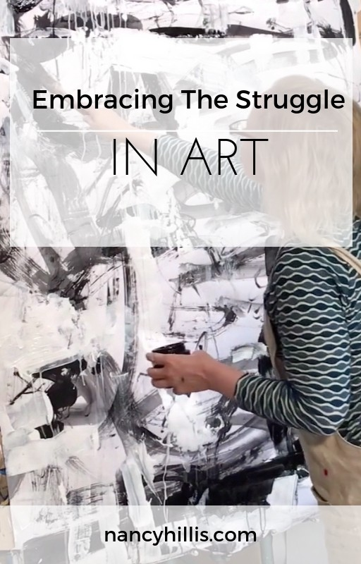 Embracing Struggle In Art | If you want to create expressive, wondrously alive paintings yet find yourself struggling with trying to replicate your best work, then this post is for you. Read about the paradox of painting and how integrating the left and right brain, the art and science, into your art is compelling. Learn the one big tip on how to do this. Click through to check it out.
