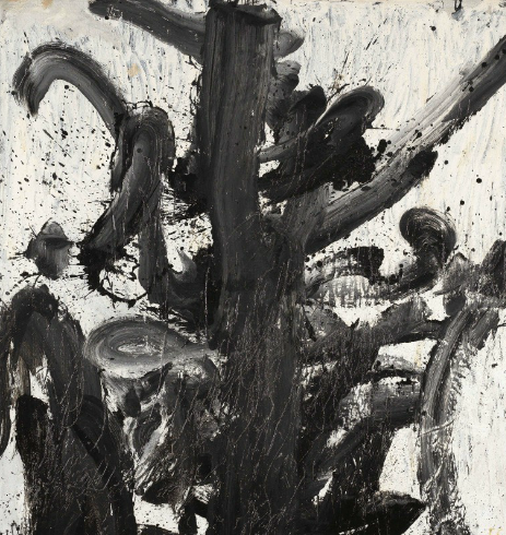 WALASSE TING (DING XIONGQUAN, USA/CHINA, 1929-2010) BLACK AND WHITE signed, titled, dated and inscribed 'ting 14 july 1958 63 x 70 3/4 oil Black & White MARTHA jackson gallery new york city'; signed and inscribed in Chinese (on the reverse) oil on canvas 177.8 x 160 cm. (70 x 63 in.) Painted in 1958