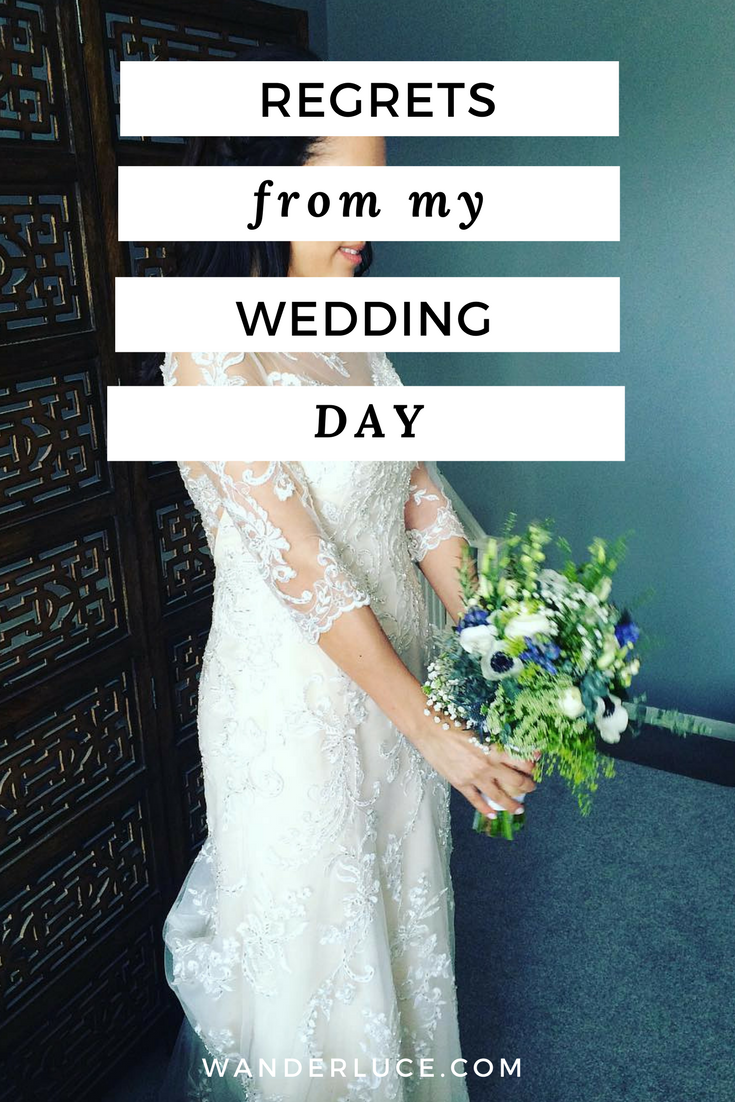Advice for brides to be! Read all about my wedding day regrets and avoid my mistakes.