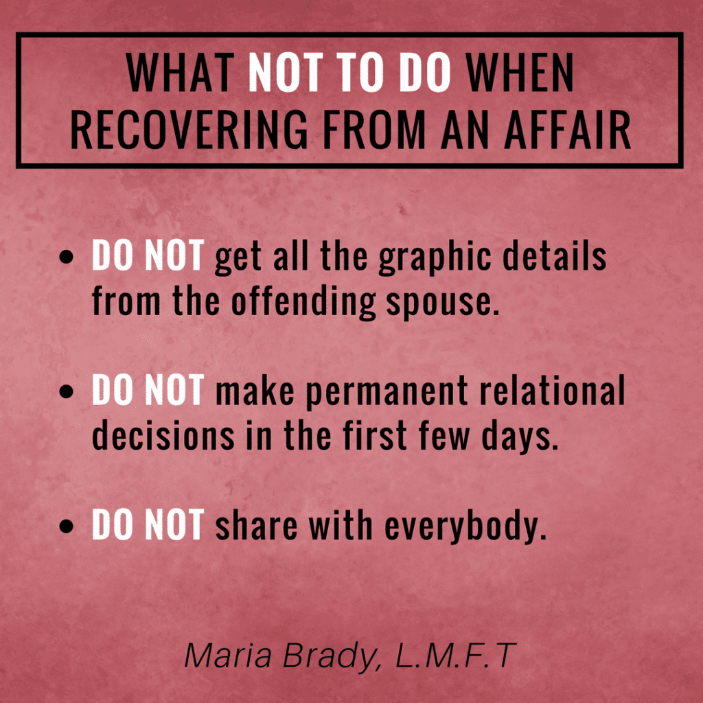 Surviving an Affair: Dos and Don\'ts of the Recovery Process