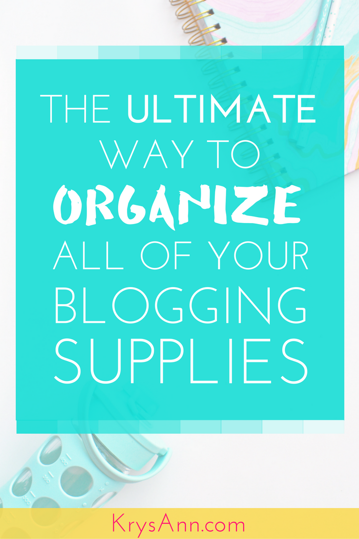 You'll never guess what I use to keep all of my blogging supplies organized while on a budget!