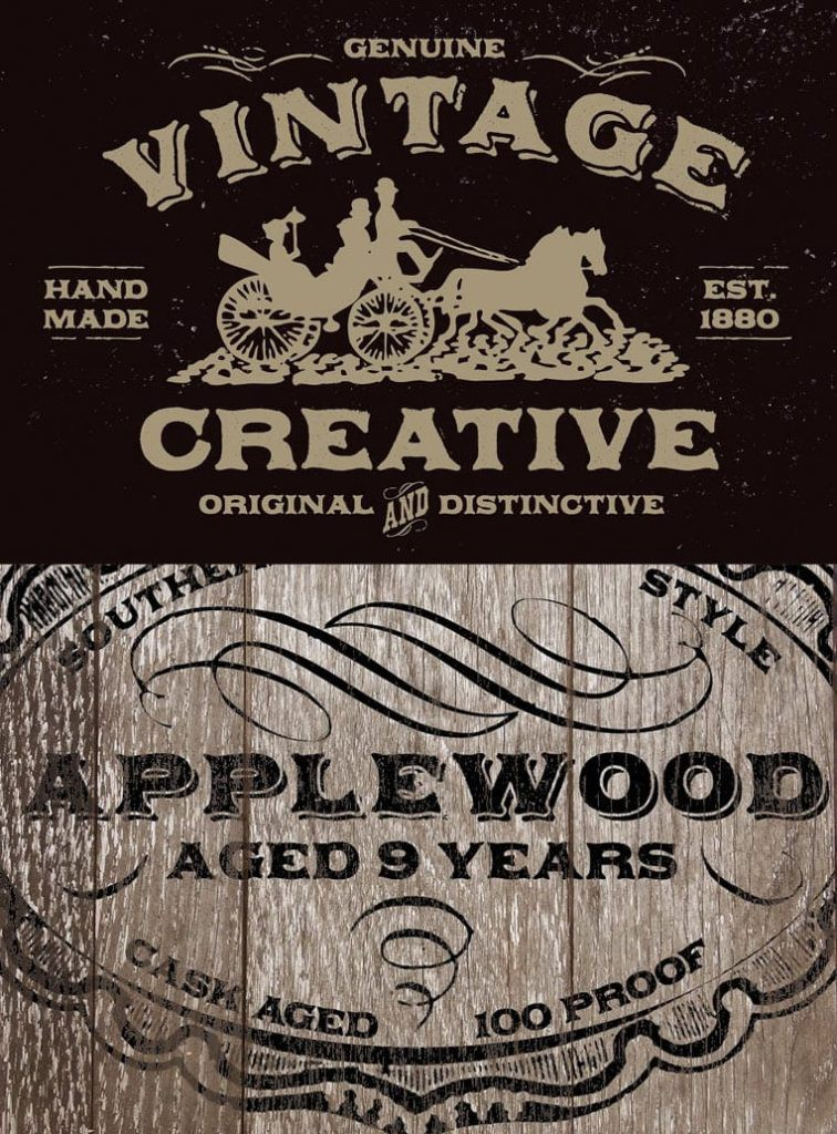 Applewood display typeface by Aerotype