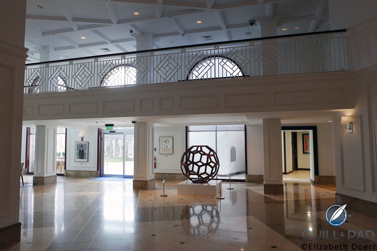 'Untitled (Divina Proportione)' by Ai Weiwei stands tall in the spacious lobby of the Hamilton Princess & Beach Club in Bermuda