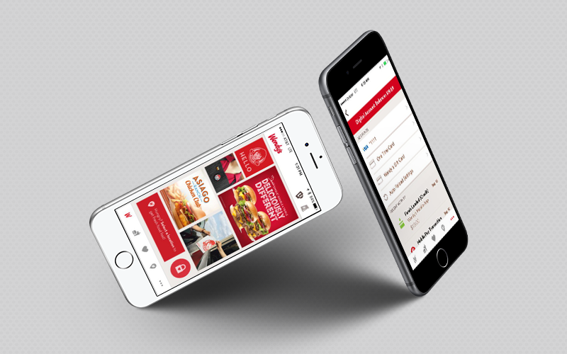 Food applications: Wendy's app interface