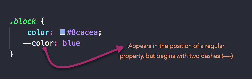 CSS Variables are also called Custom Properties