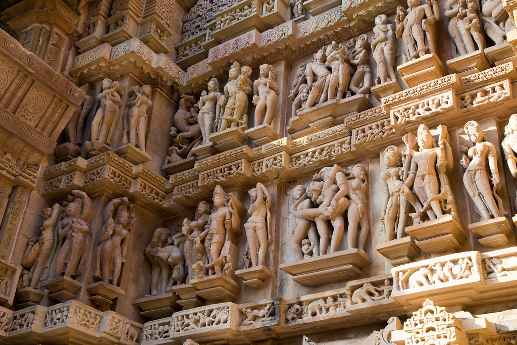 Detail from the Western Group of Temples in Khajuraho, India