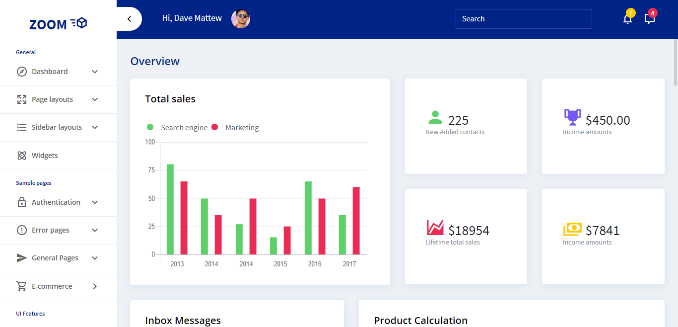 16 Modern Admin Templates For Web Applications 2018