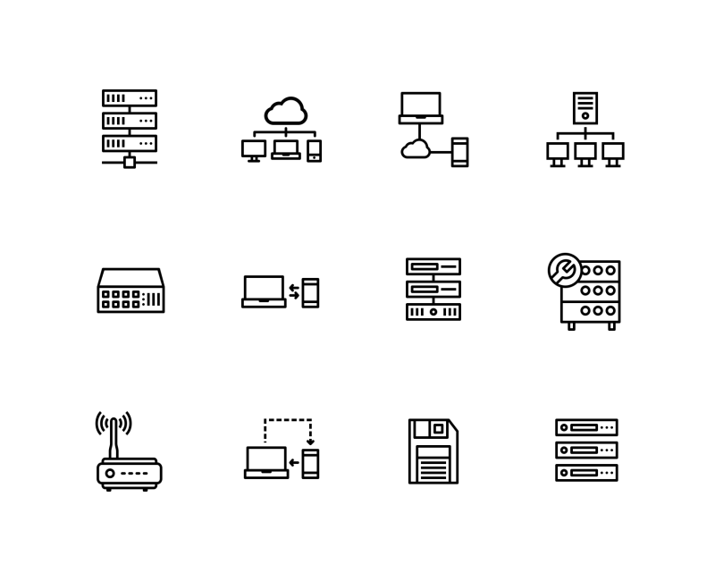 Network and communication 500 icons ai eps svg png networking and sharing icon pack by jemis mali ccuart Gallery