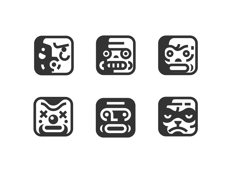 Faces icon collection by Nick Kumbari