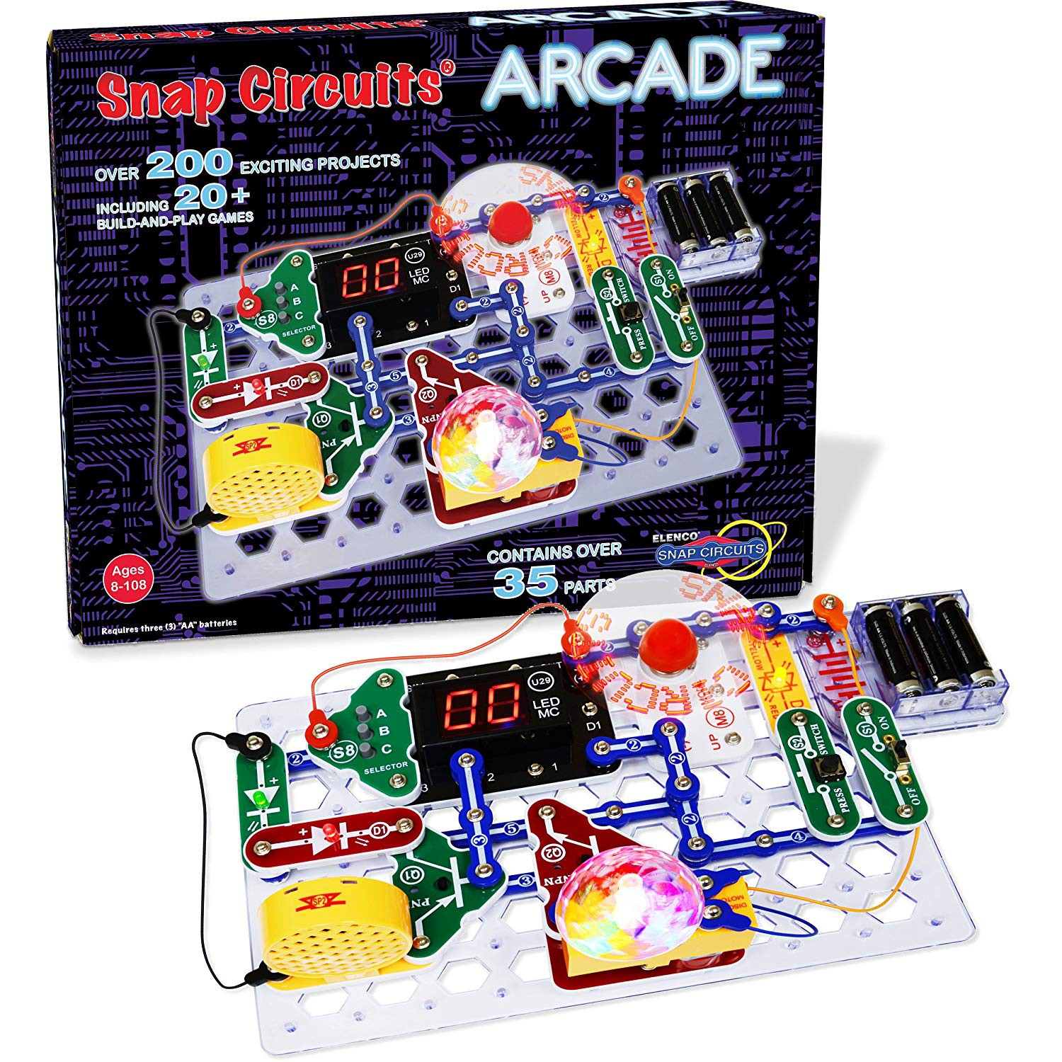 Nerdy And Geeky Gifts Guide Winter 2018 Edition B Drew Collier That Snap Together Easily You Also Get An Elenco Circuits Make Your Own Tabletop Arcade With The Kit Is Another Multi Award Winner This Introduces To Electronics In