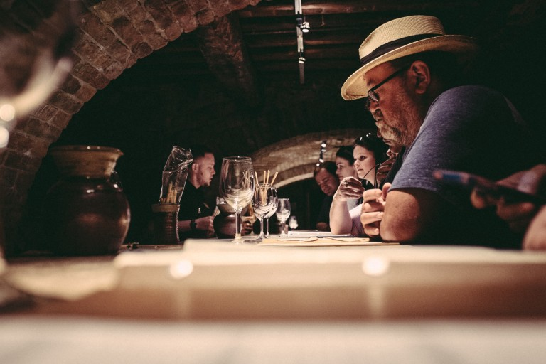 Wine tasting at Castello di Amorosa