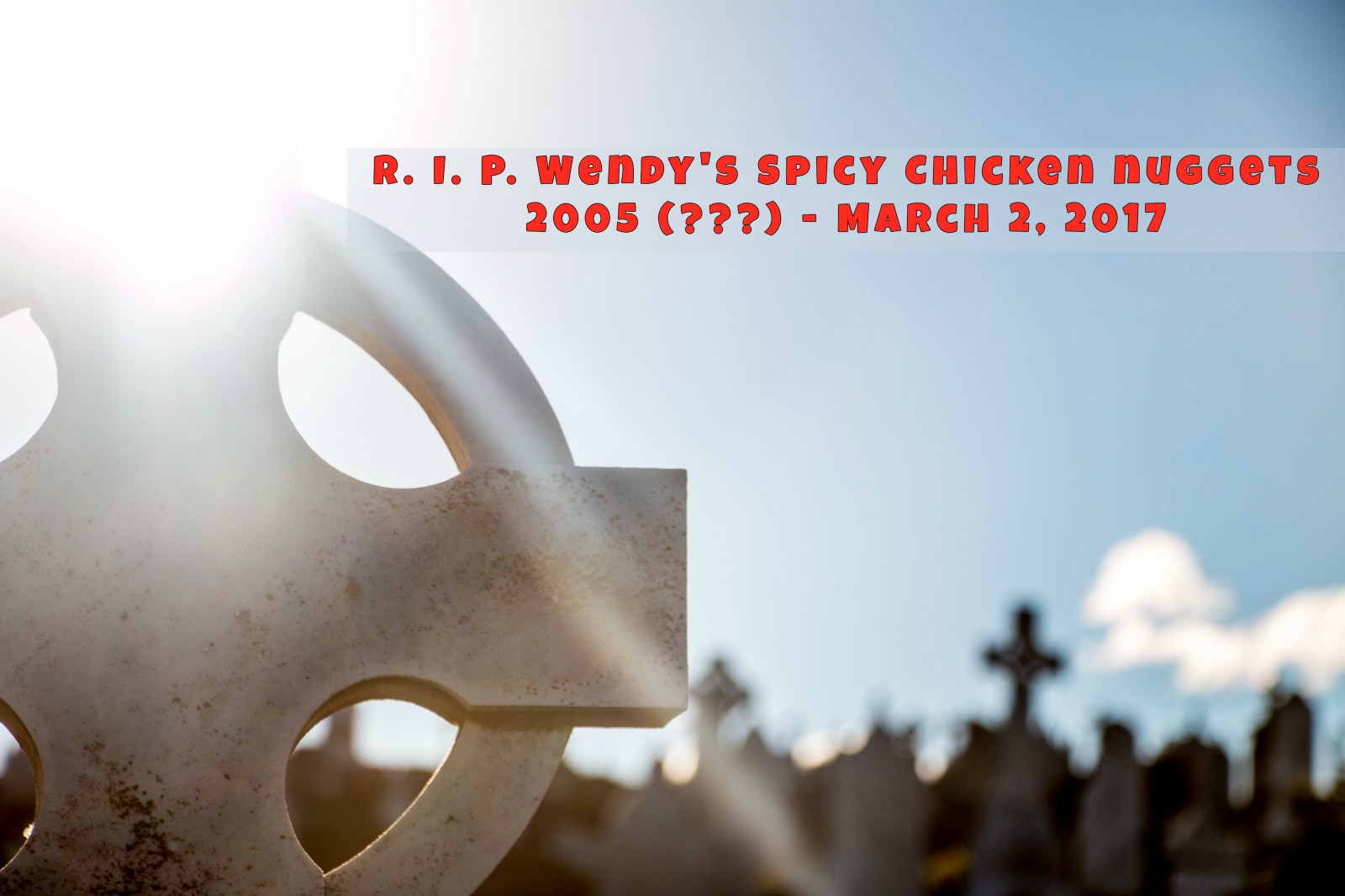 chicken nuggets tombstone