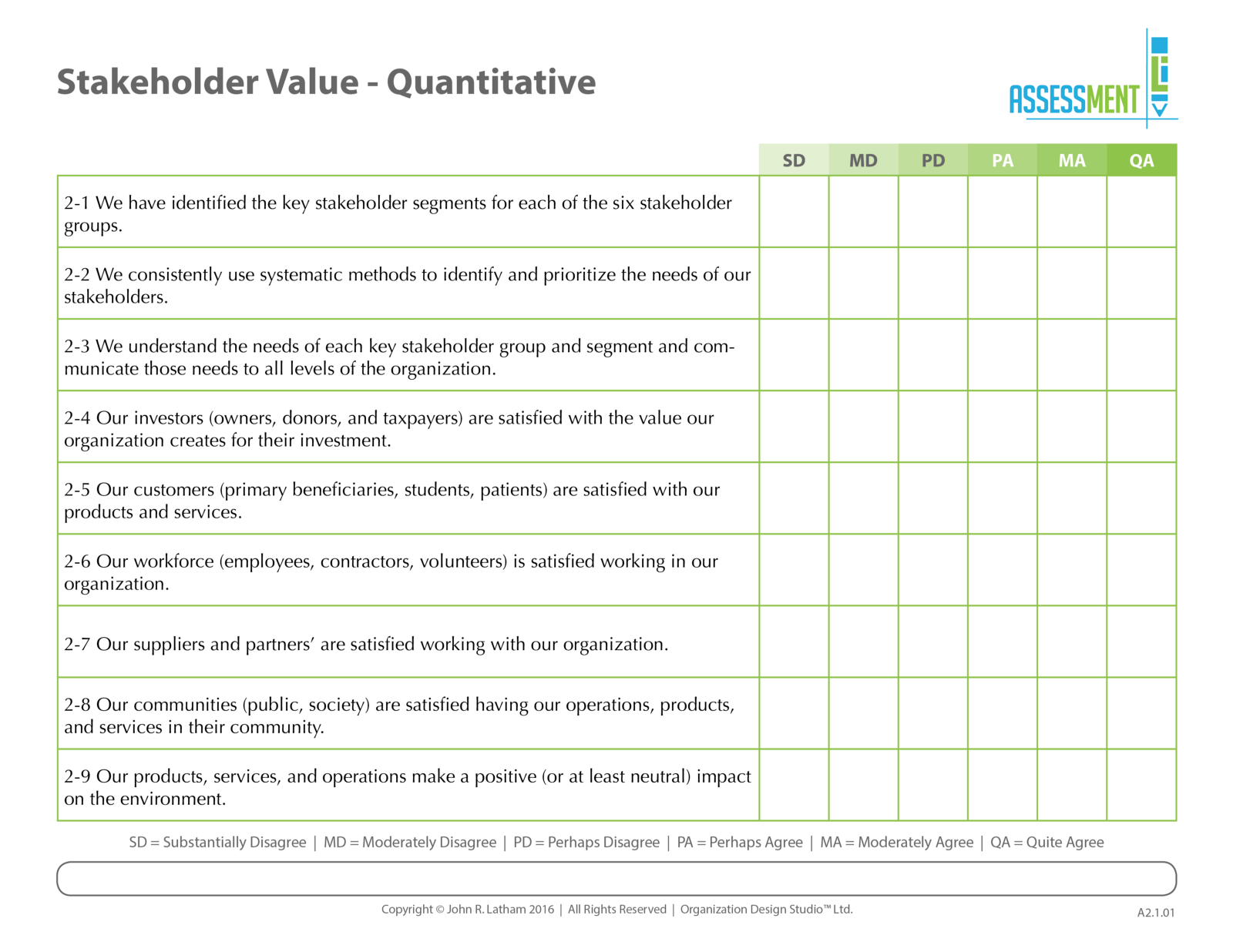 A2-1 Stakeholder Value Quant