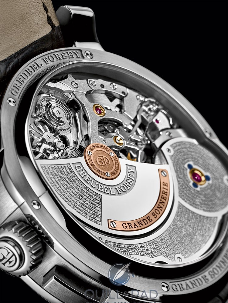 Movement side of the Greubel Forsey Grande Sonnerie
