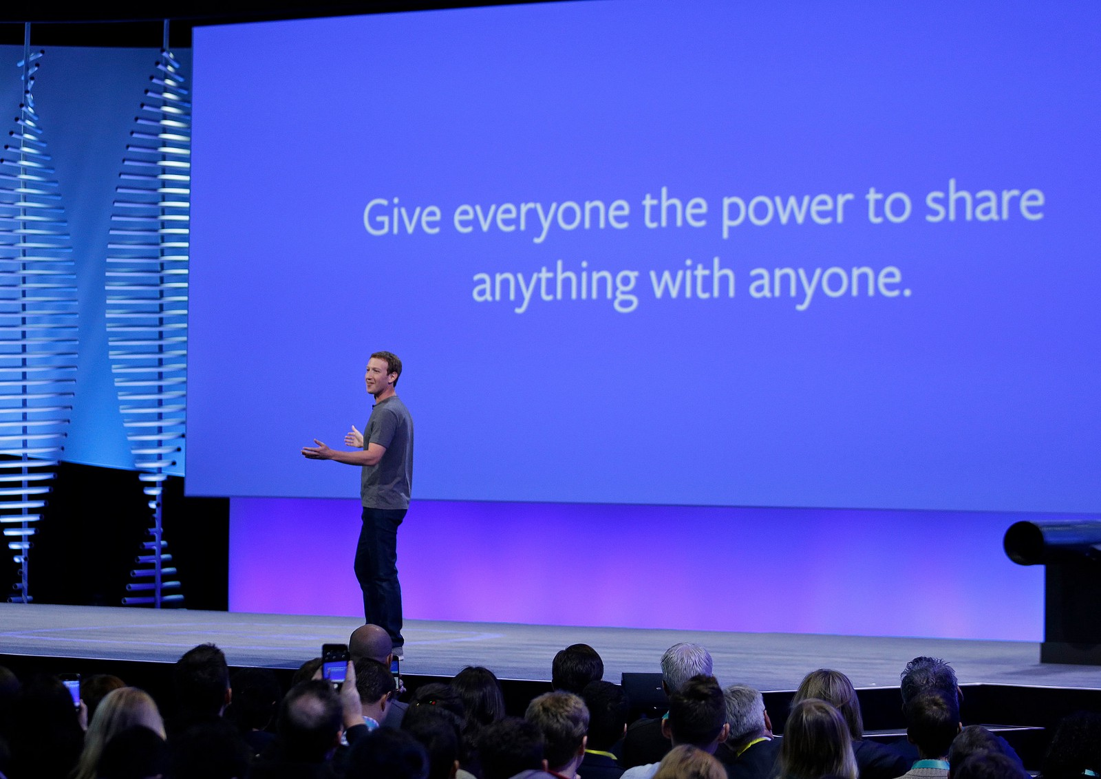 Image of Mark Zuckerberg and a big title: