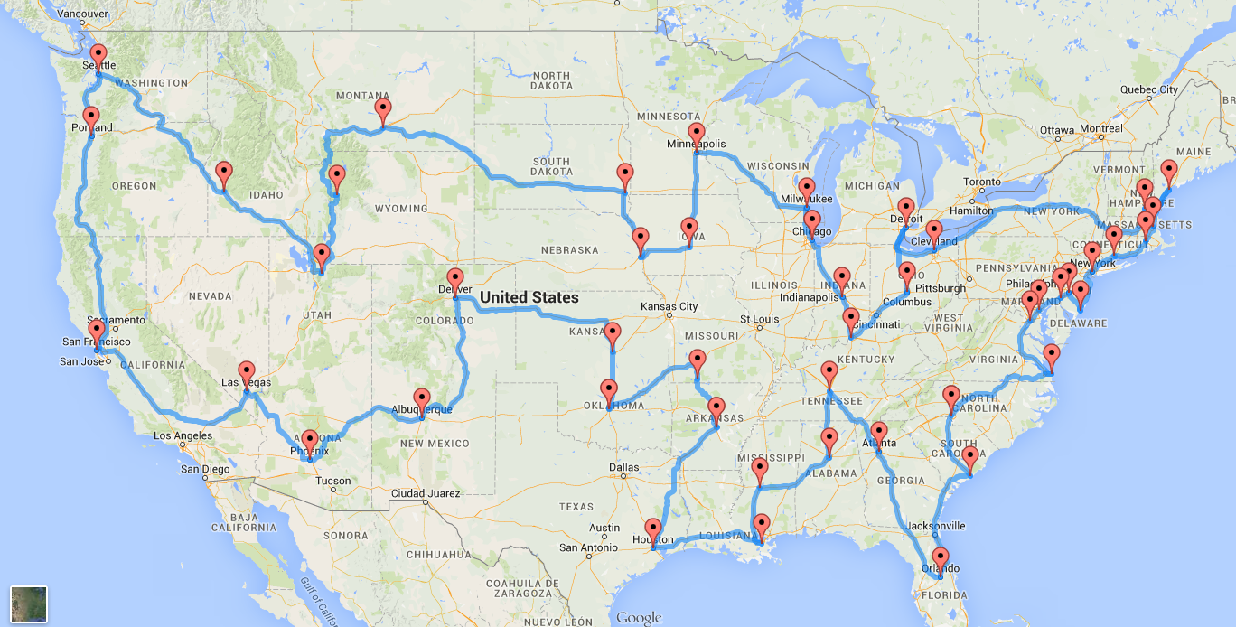This Is The Perfect Us Road Trip According To Scientists - Road-map-of-the-us