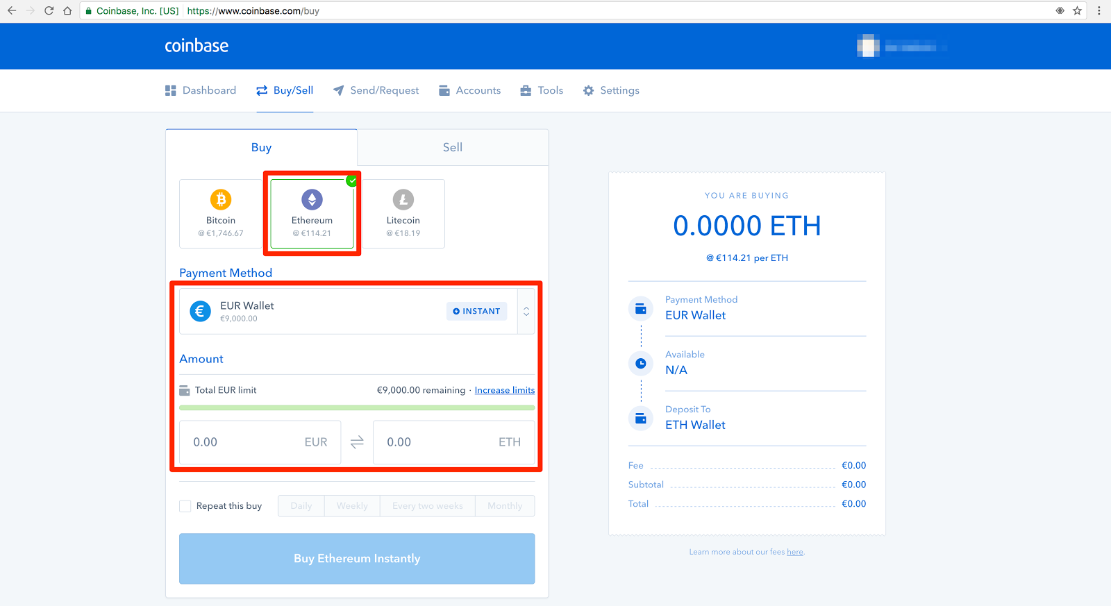 coinbase eth wallet address changes