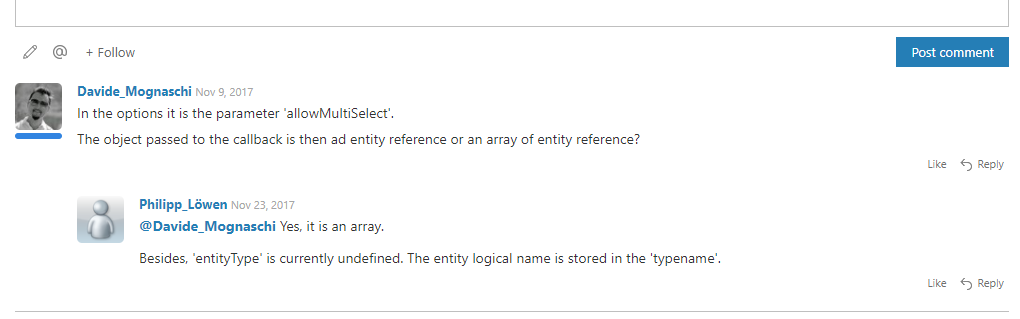 A threaded comment from docs.microsoft.com