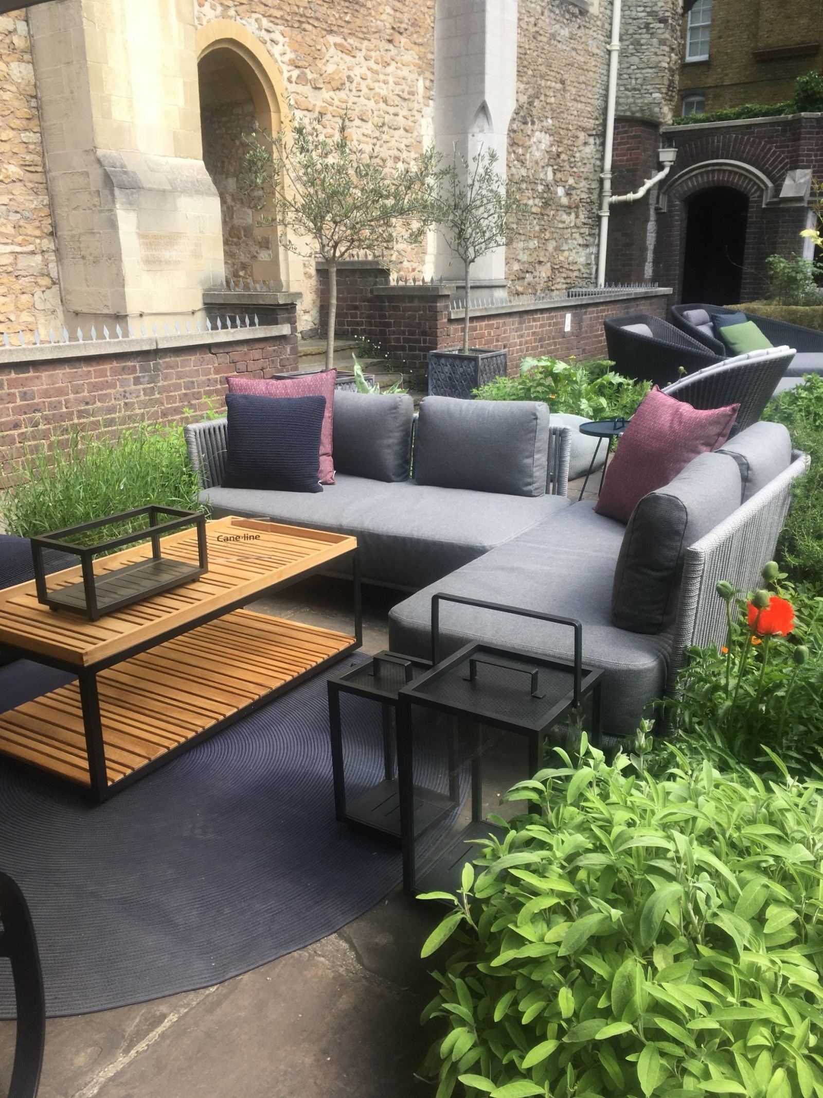 Located within the quaint museum of the order of st john the outdoor furniture range cane line from denmark presented an elegant display of their