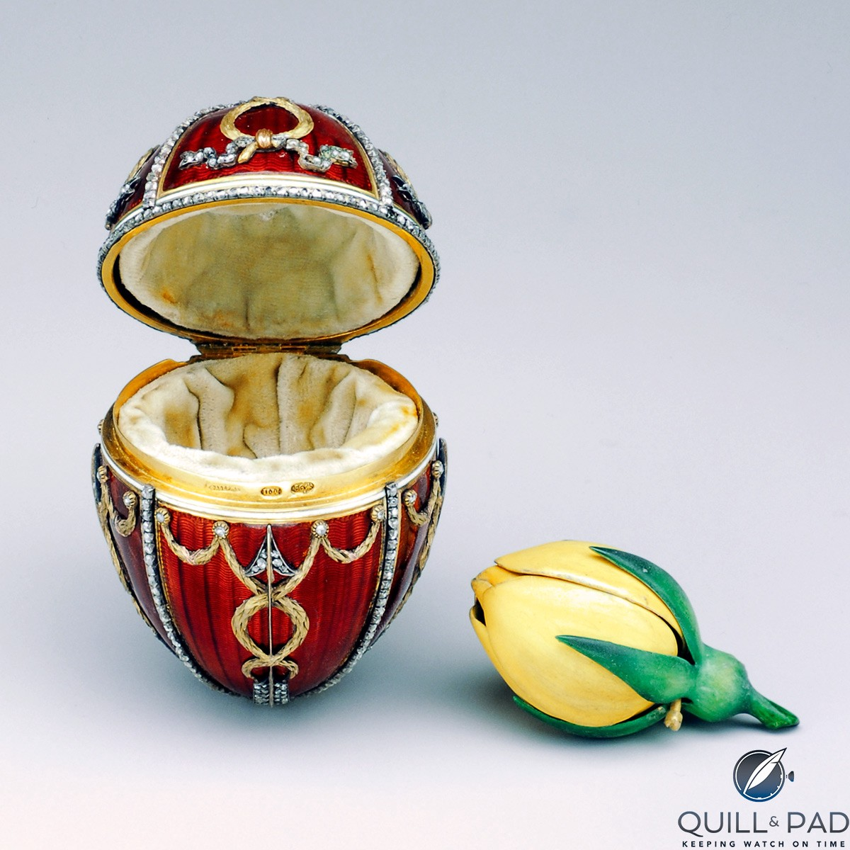 The Fabergé Rosebud Egg from 1895 (photo courtesy The Forbes Collection)