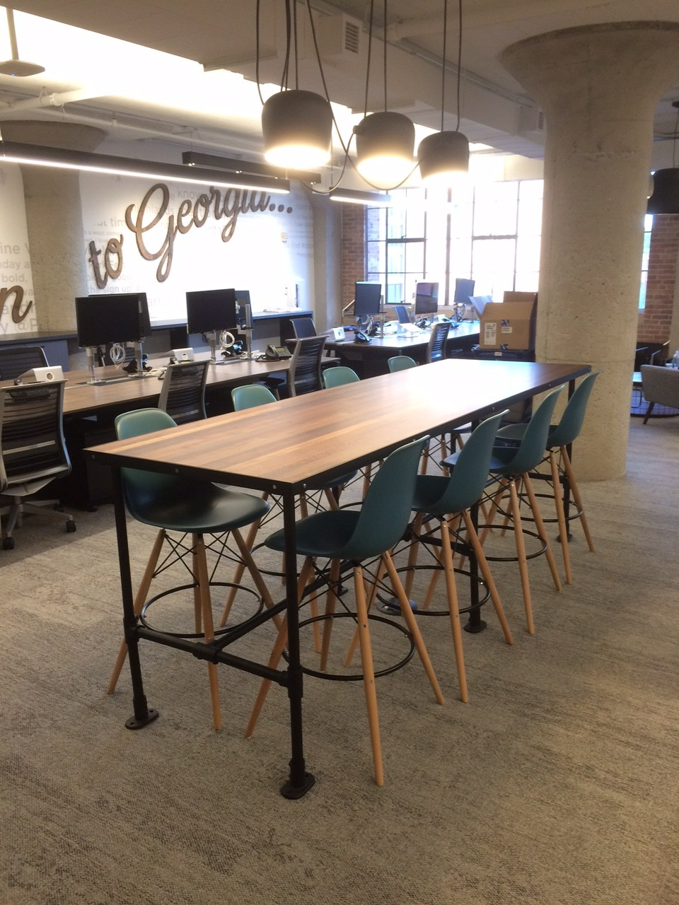 office cafeteria design. At Twitter, Formaspace Built Their Custom Employee Cafeteria Table And Desks. Office Design