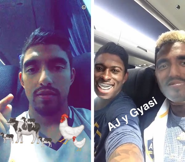 Snapchat use in the MLS is a lot more advanced than the Premier League - players regularly get access to the account and post videos and photos of them having fun using the app's filters.