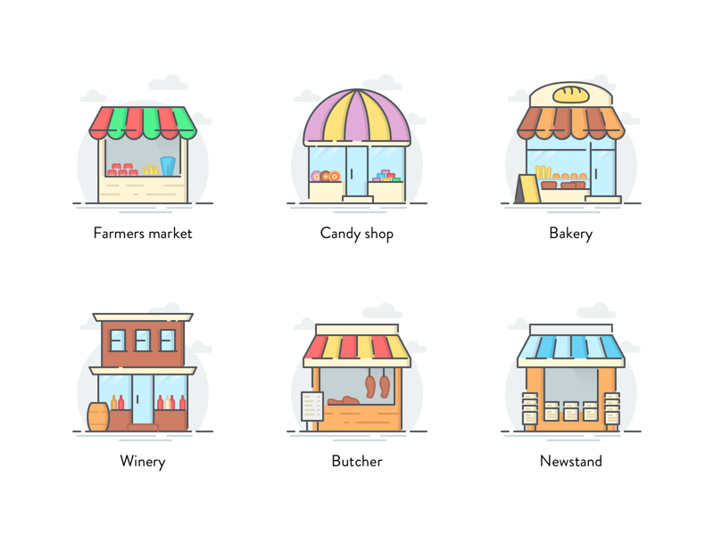storefront icon pack by Zlatko Najdenovski