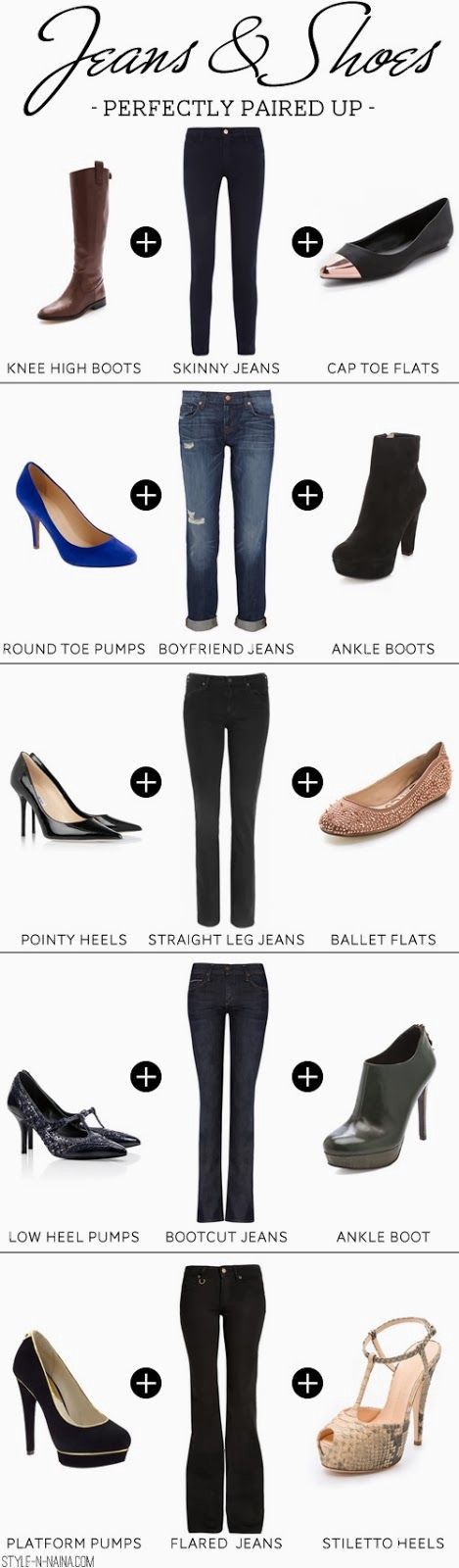 Suitable Shoes for Jeans for Ladies:
