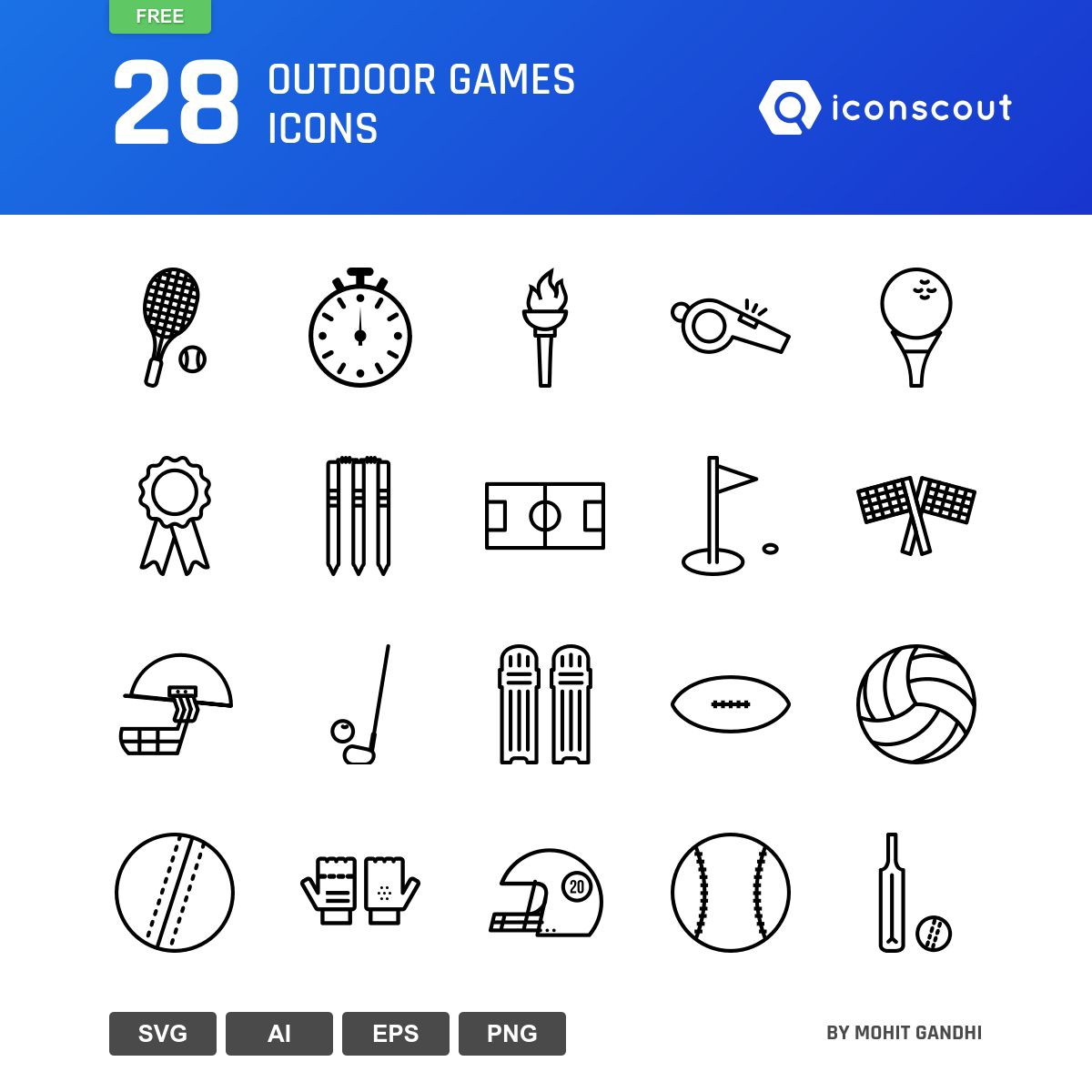 Outdoor Games icons by Mohit Gandhi